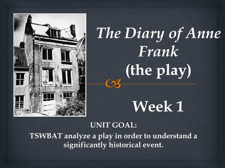 the diary of anne frank the play week 1 n.