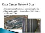 data center network size