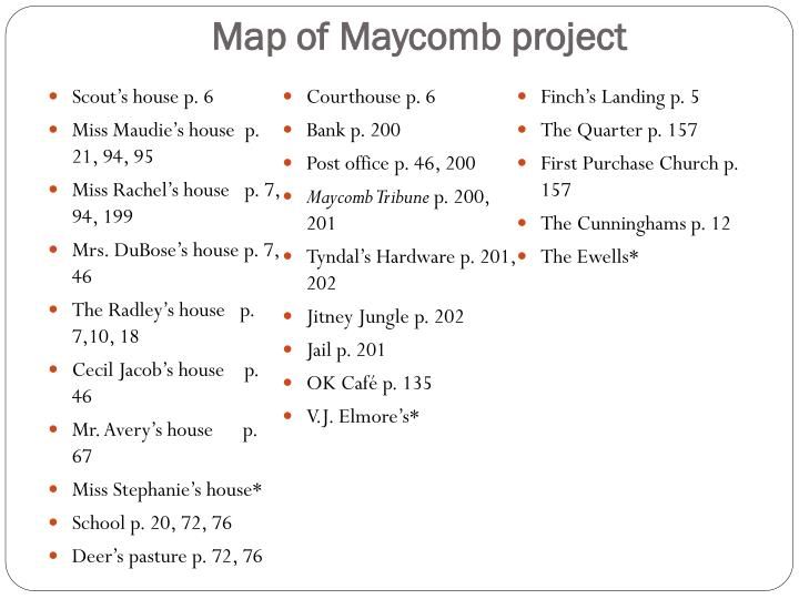 PPT - Map of Maycomb Project PowerPoint Presentation - ID:2081830