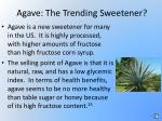 agave the trending sweetener