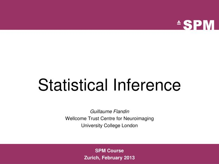 statistical inference n.