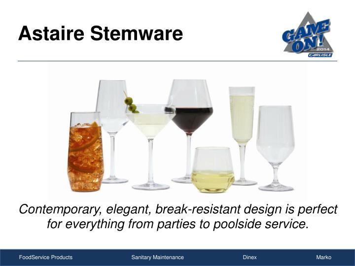 Astaire stemware