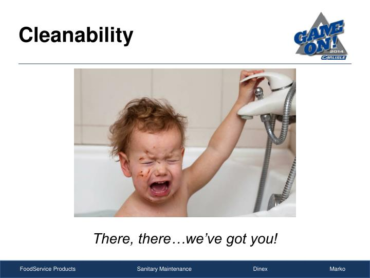 Cleanability