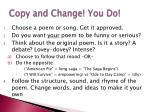 copy and change you do