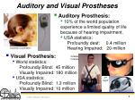 auditory and visual prostheses