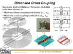 direct and cross coupling