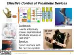 effective control of prosthetic devices