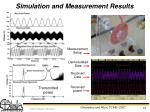 simulation and measurement results
