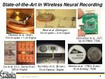 state of the art in wireless neural recording