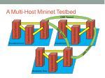 a multi host mininet testbed