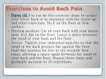 exercises to avoid back pain2