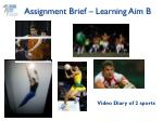 assignment brief learning aim b