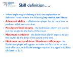 skill definition