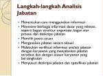 langkah langkah analisis jabatan