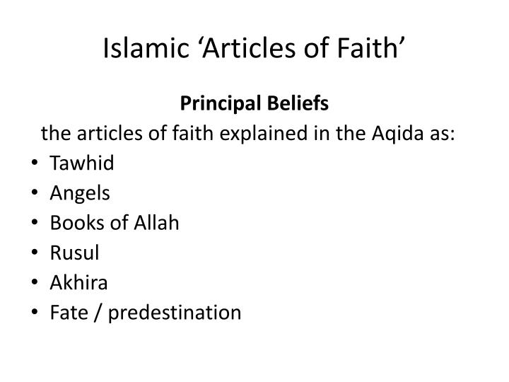 Islamic articles of faith