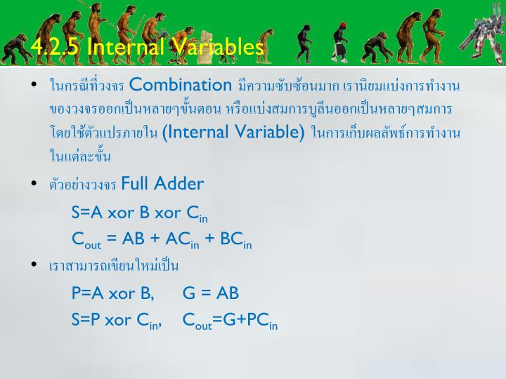4.2.5 Internal Variables