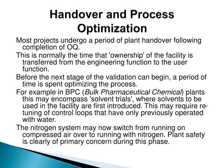Handover and Process Optimization
