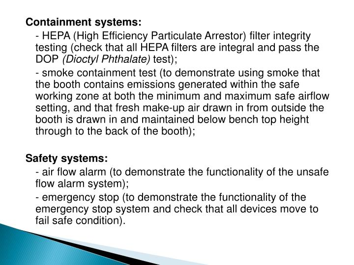 Containment systems:
