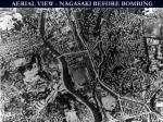 aerial view nagasaki before bombing