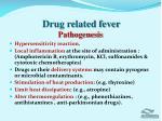 drug related fever pathogenesis