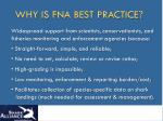 why is fna best practice