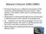 marxist criticism 1930 1980 s