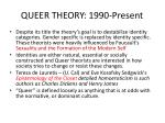 queer theory 1990 present
