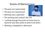 tenets of marxist lens