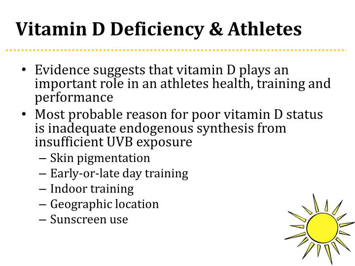 Vitamin D Deficiency & Athletes