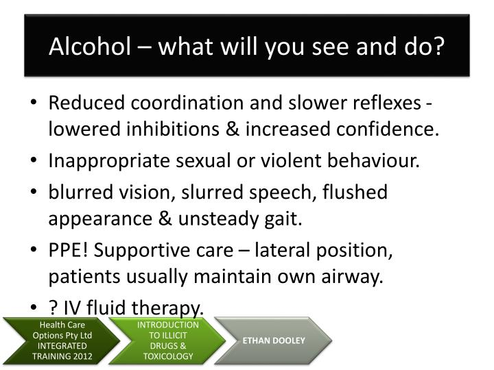 Alcohol – what will you see and do?