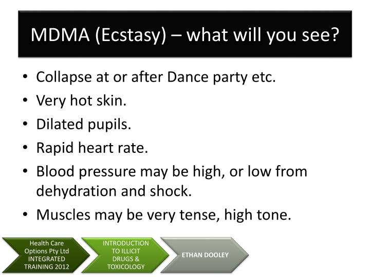MDMA (Ecstasy) – what will you see?