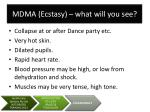 mdma ecstasy what will you see