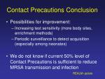 contact precautions conclusion