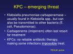 kpc emerging threat