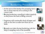 bunkering procedure