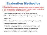 evaluation methodics