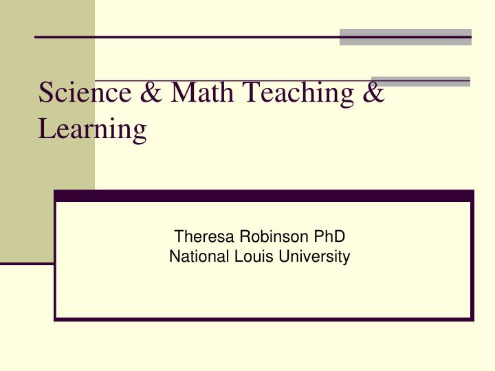 science math teaching learning n.
