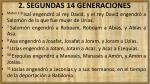 2 segundas 14 generaciones