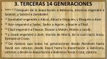 3 terceras 14 generaciones