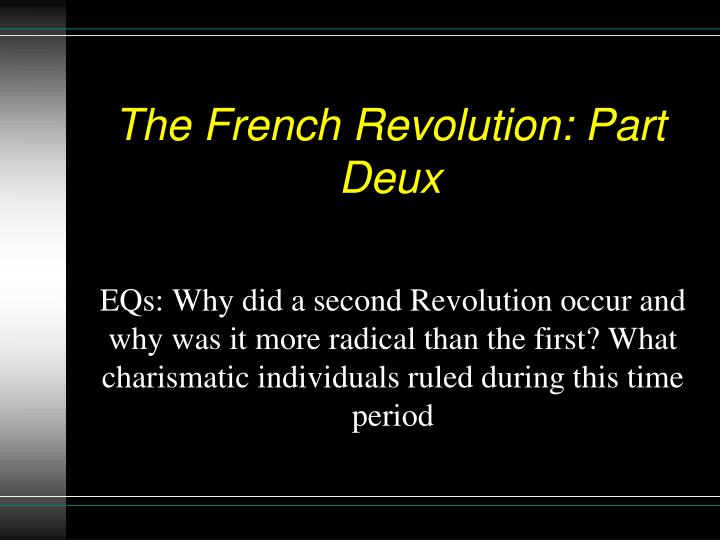 the french revolution part deux n.