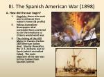 iii the spanish american war 1898