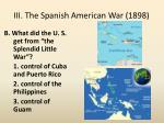iii the spanish american war 18981