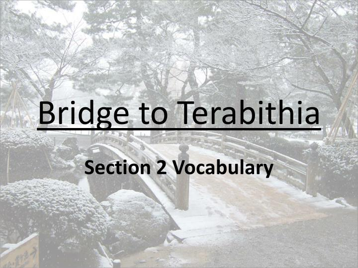 bridge to terabithia n.