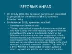 reforms ahead