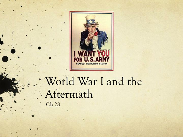 world war i and the aftermath n.