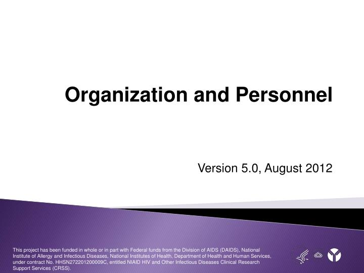 organization and personnel n.