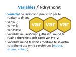variables ndryshoret