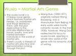 wuxia martial arts genre