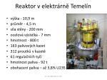 reaktor v elektr rn temel n