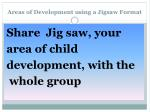 areas of development using a jigsaw format3